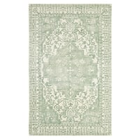 Dynamic Rugs Borgia Mint Wool Area Rug (8' x 11')