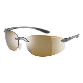 Eagle Eyes Unisex Phoenix Gunmetal Brown Plastic Sunglasses