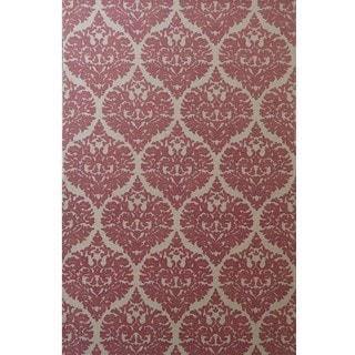 Dynamic Rugs Borgia Ivory/Coral Wool Area Rug (5' x 8')