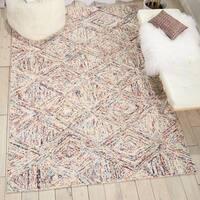 Nourison Linked Multicolor Contemporary Area Rug - 8' x 10'6