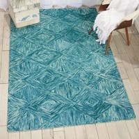 Nourison Linked Marine Contemporary Area Rug - 8' x 10'6""