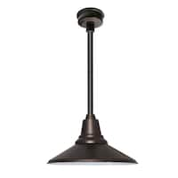 "12"" Calla LED Pendant Light in Mahogany Bronze with Black Downrod"