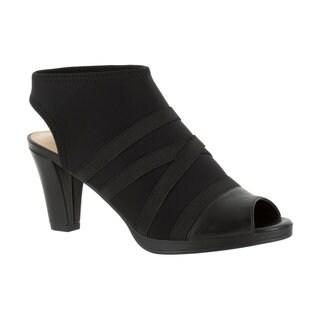 Bella Vita Women's Lisbeth II Black Stretch Gore Sandal