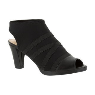 Bella Vita Women's Lisbeth II Black Stretch Gore Sandal