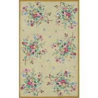 The Rug Market Multicolored Cotton Floral-themed Vintage-style Area Rug (5' x 8')