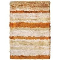 The Rug Market Beige/Rust Wool/Silk Handmade Area Rug