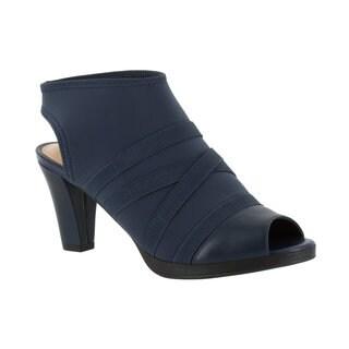 Bella Vita Lisbeth II Women's Navy Blue Stretch Sandals