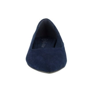 Bella Vita Women's Vivien Navy Blue Suede Flat Shoes