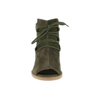 Bella Vita Women's Pru-Italy Olive Italian Suede Shoes