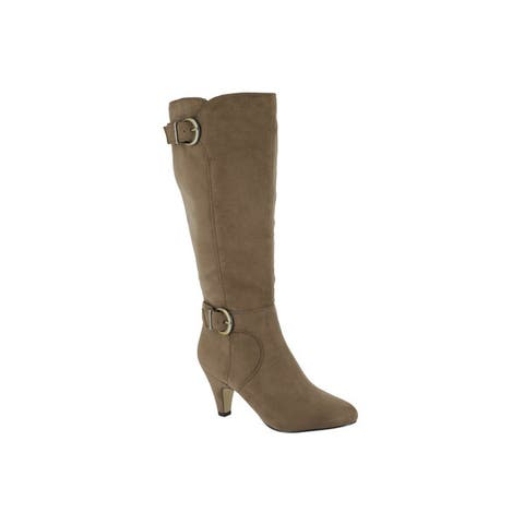 Bella Vita Womens Toni II Plus Fawn Super Suede Tall Wide Calf Boot