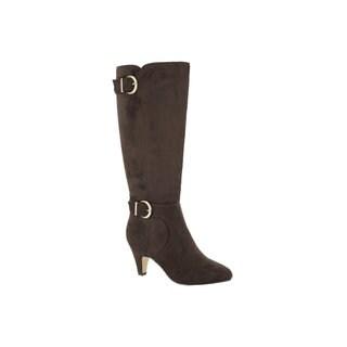 Bella Vita Women's Toni II Plus Brown Super Suede Tall Wide Calf Boot