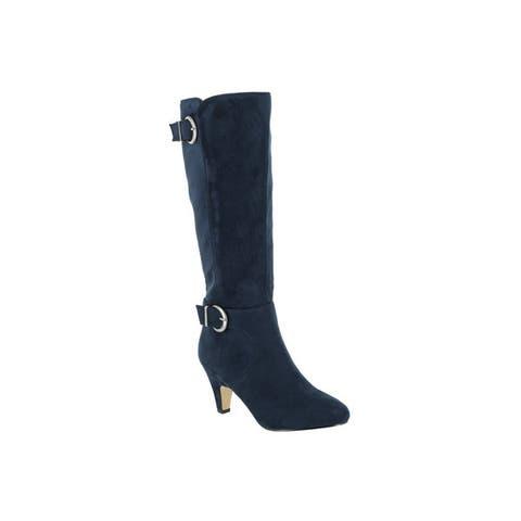 Bella Vita Womens Toni II Navy Super Suede Tall Boot