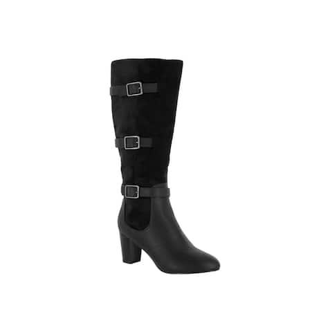 Bella Vita Womens Talina II Black Super Suede Tall Boot