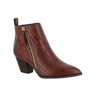 Bella Vita Women's Everest II Brown Bootie Shoes