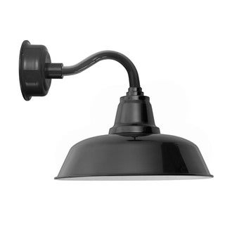 "12"" Goodyear LED Sconce Light with Chic Arm in Black"