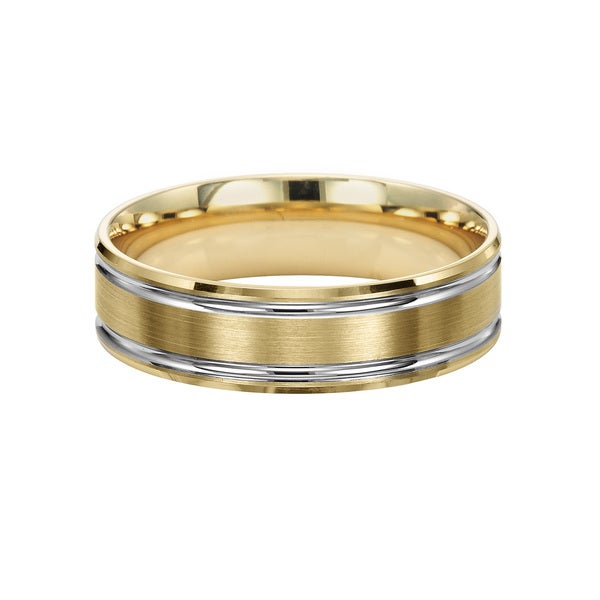 Titanium 14kt Gold Plated Comfort Fit Men/'s 8MM Wedding Band Ring size 9-13