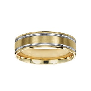Cambridge 14k Yellow and White Gold 6-millimeter Wedding Band