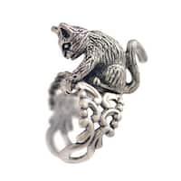 Sweet Romance Kitty Cat Feline Sculpture Ring
