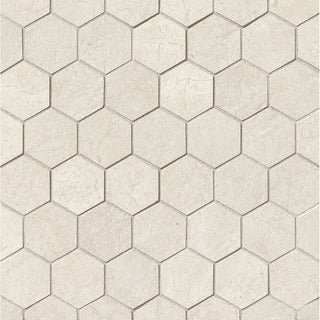 2X2 Hexagon Mosaic On 12-1/2X12-1/2 sheet (Case of 11)