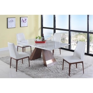 Christopher Knight Home Stella 5-Piece Dining Set with White Chairs