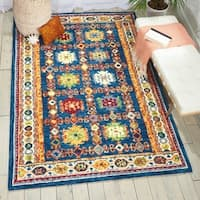 Nourison Vivid Navy Contemporary Area Rug - 8' x 10'6""