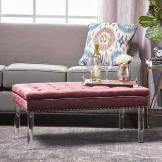 Beatrix New Velvet Ottoman by Christopher Knight Home (3 options available)