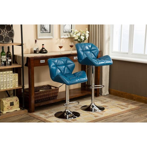 Buy Blue Swivel Counter Height 23 28 In Counter Amp Bar