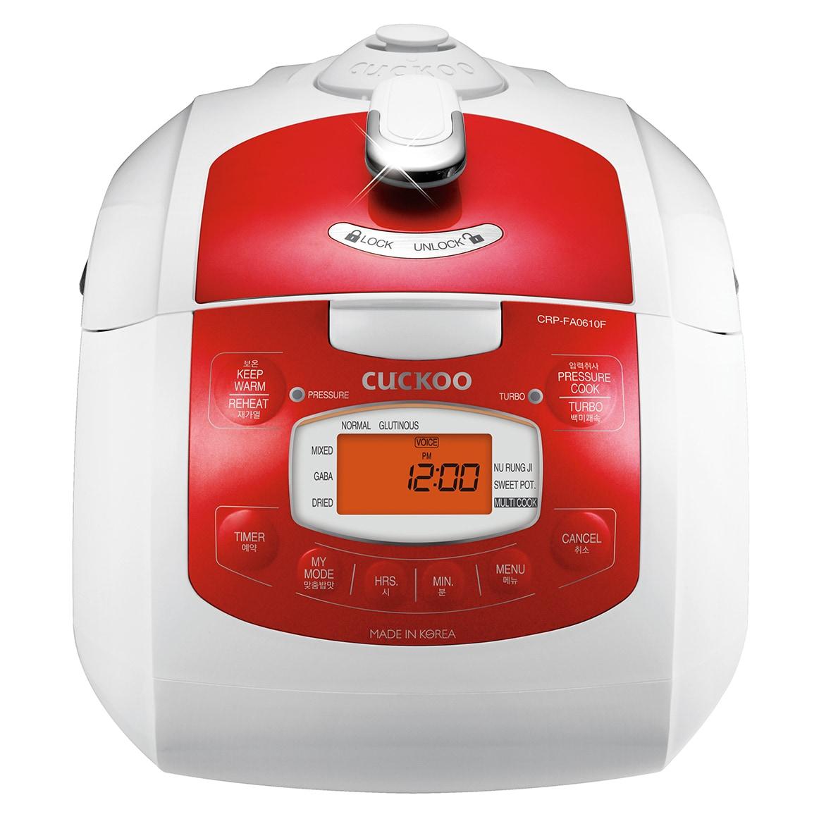 Cuckoo Electric Pressure Rice Cooker CRP-FA0610FR (6 Cups...