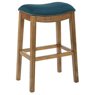 Ave Six 31 inch Austin Barstool with Antique Bronze Nailheads
