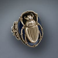 Sweet Romance Egyptian Scarab Beetle Bug Ring