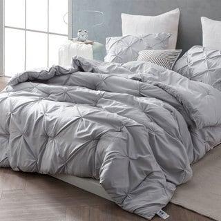BYB Glacier Grey Pin Tuck Comforter Set