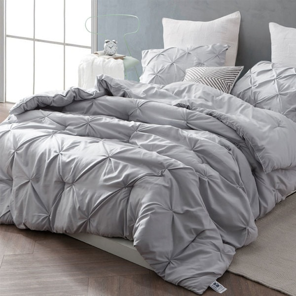 71dac44f31 Shop BYB Glacier Grey Pin Tuck Comforter Set - On Sale - Free Shipping  Today - Overstock - 16685411