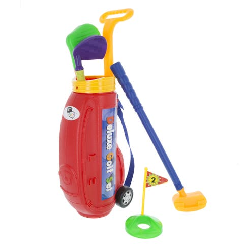 Hey! Play! Toddler Toy Golf Play Set with Plastic Bag - Multi