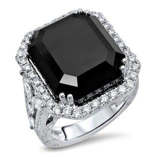 Noori 23 1/5ct Black Diamond Emerald Cut Engagement Ring 18k gold