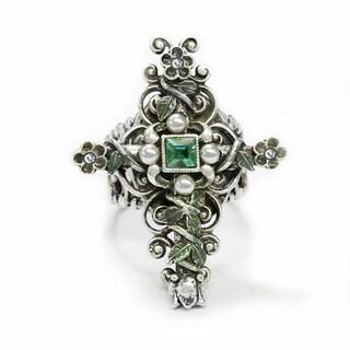Sweet Romance Vintage London Cross Ring