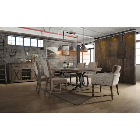 Birmingham Driftwood Table and Nail Head Chair 7-piece Dining Set