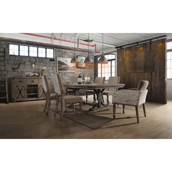 Shop birmingham piece driftwood finish table with nail