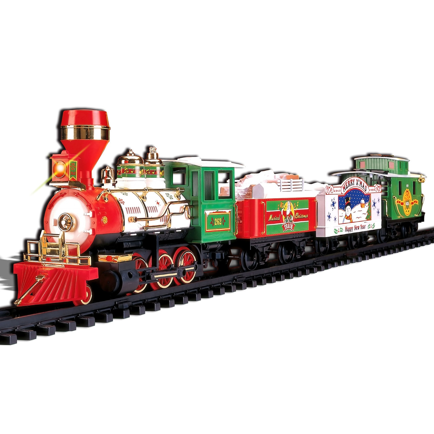 Christmas Train Set.Musical Christmas Train 4 Car Set