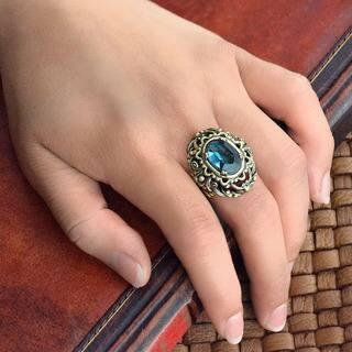 Sweet Romance Vintage London Blue Stone Ring|https://ak1.ostkcdn.com/images/products/16685751/P23004710.jpg?impolicy=medium
