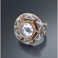 Sweet Romance Vintage Miniature Working Compass Ring