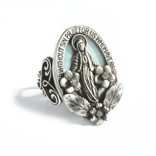 Sweet Romance Our Lady of Miracles Virgin Mary Ring (Option: Brown)|https://ak1.ostkcdn.com/images/products/16685764/P23004716.jpg?impolicy=medium