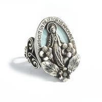 Sweet Romance Our Lady of Miracles Virgin Mary Ring