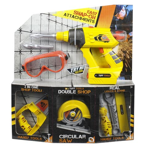 Lanard Toys Tuff Tools Versi Tools 2-in-1 Set with Goggles