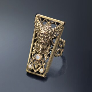 Sweet Romance Vintage Zeus Greek God Destiny Ring