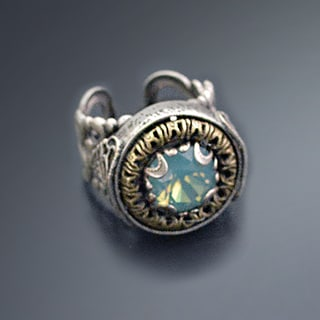 Sweet Romance Vintage Swarovski Crystal Circle Jewel Ring