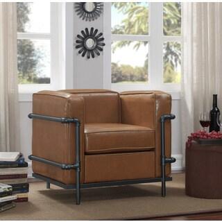 Industrial Pipe Chair Camel Brown