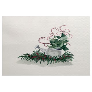 E by Design! Holiday Essence Gardener's Holiday Delight Rug (5'0 x 7'0)