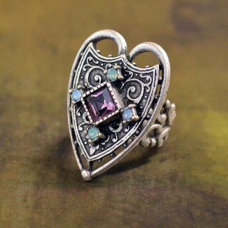 Sweet Romance Vintage Renaissance Heart Ring