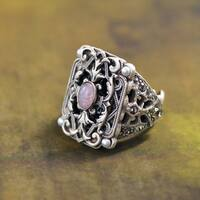 Sweet Romance Vintage French Baroque Revival Ring