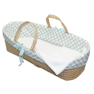 Cotton Tale Sweet and Simple Aqua/Blue Moses Basket